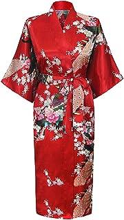 comprar comparacion Cityoung HonourSport Albornoz Mujer Largo Pava de Satén Camisón Sexy Kimono Vestido