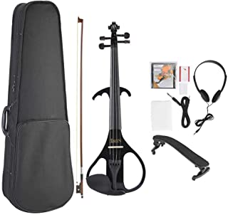 4/4 Electric Acoustic Violin Set Music Performance Violin with Bow Rosin for Musical Lovers Beginners