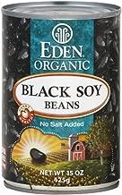 Eden Black Soy Beans, Organic, 15 oz, (pack of 6)