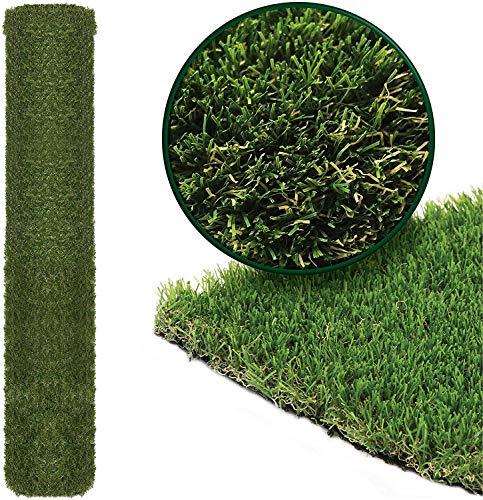 4m x 1m Roll 15mm Pile Height Carpet Artificial Grass Astro Garden Lawn...