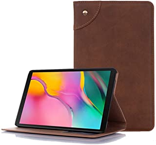 Case for Galaxy Tab A 8.0 T290, elecfan Lightweight Foldable Stand Function Cover with Credit Card Slot Case Automatic Wake/Sleep Business Case for Galaxy Tab A 8.0 T290 T295, Light Brown