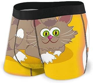 メンズボクサーパンツ 猫グラフィック ボクサーパンツ 通気性高 無地 抗菌防臭 ボクサーブリーフ