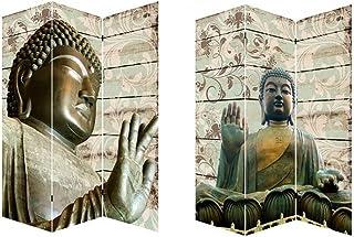Home Line Biombo Separador de ambientes, Buda Zen WABI-SABI, Economico. Fotoimpresión sobre Lienzo.Bastidor de Madera. 180x120 cm