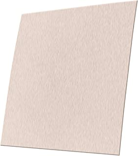 Cell's world 1pc 0.5mm Thickness 304 Stainless Steel Fine Polished Plate Sheet 100x100mm with Wear Resistance
