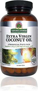 Nature's Answer Extra Virgin Coconut Oil Softgels Organic Coconut Oil Multi-Purpose Non-GMO Ideal for For Hair Skin Body M...