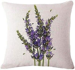 Monterey Funda de cojín decorativa de lino lavanda | Sofá cama, coche, cafetería, oficina, decoración