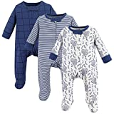 Touched by Nature Baby Organic Cotton Sleep and Play, Elephant, 3-6 Months
