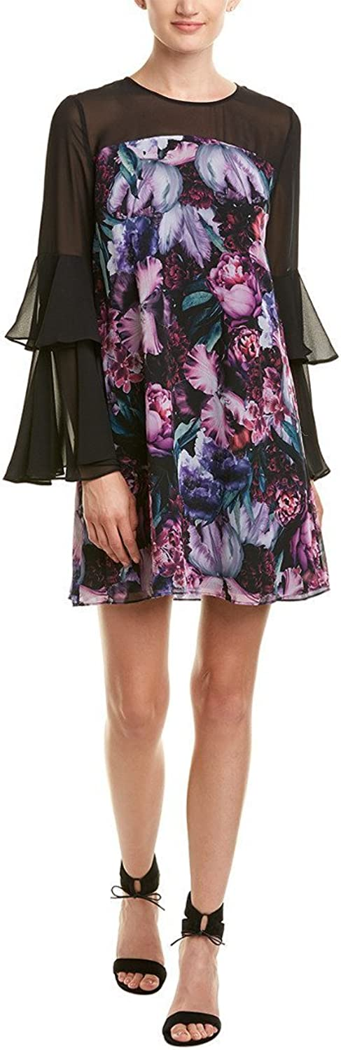 C&E CeCe Women's Camille Tiered Sleeve Floral Dress