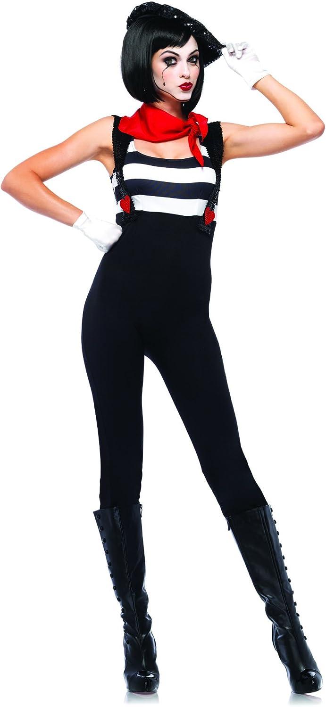 Leg Avenue Marvelous Mime Costume (L, Black)