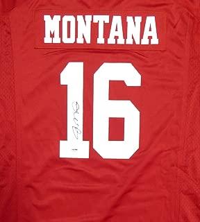 SAN FRANCISCO 49ERS JOE MONTANA AUTOGRAPHED RED NIKE JERSEY SIZE XXL PSA/DNA STOCK #113640