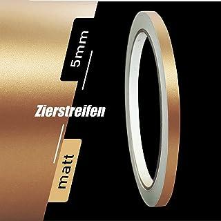 Zierstreifen Matt Kupfer metallic 5mm Aufkleber Länge 10m Auto Boot Klebeband Sticker