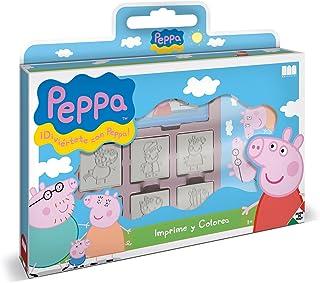 Multiprint Valise 7 Timbres Enfants Peppa Pig, 100% Made in Italy, Tampons Enfants Personnalisés, en Bois et Caoutchouc Na...
