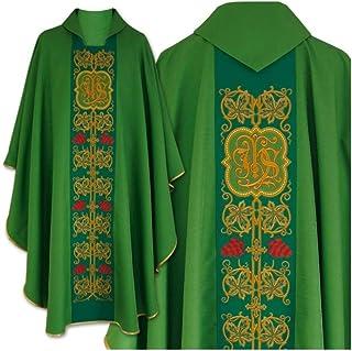 Casula in stile gotico con stola abbinata - verde