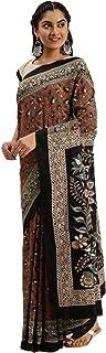 Pure Cotton Indian Handcrafted Kalamkari Print Saree Blouse Formal Woman Occasional Sari 6321 8