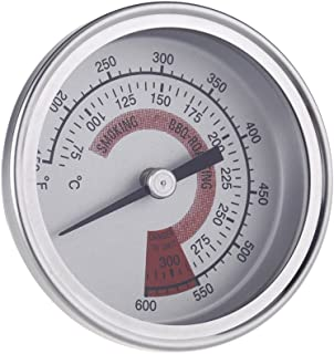 """F&C 2.25"""" Stainless Steel BBQ r Pit Grill Thermometer Temp Gauge with Dual Gage 300°C"""