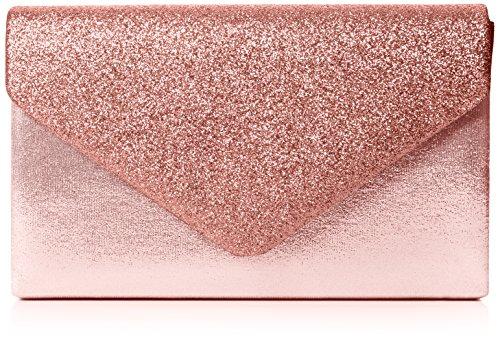 SwankySwans Bolso de embrague Kelly con purpurina para mujer, Rosa (Pink), Talla Unica