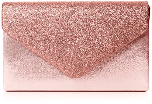 SwankySwans Damen Kelly Glitter Envelope Clutch Party Prom Bag Tasche, Pink (Pink), One Size
