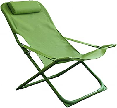 Amazon.com : RUNWEI Canvas Lounge Chair Outdoor Balcony Sun ...
