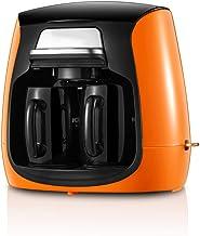 Hengqiyuan Kaffekanna, amerikansk kaffebryggare, mini dubbel kopp, hushåll nymald liten automatisk dropptyp, med automatis...
