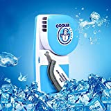Tieesa Mini Handheld Fan - Mini-Air Conditioner Cooling Fan Portable Speed Adjustable Fan Powered by Batteries or USB for Home/Office/Travel/Outdoor (Blue)