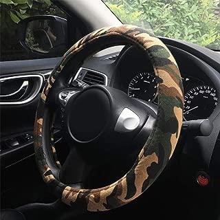 "Rayauto Automotive Interior Military Camo Fabric Wrap Camouflage Car Steering Wheel Cover 15"" 38cm"