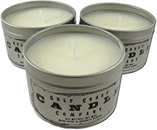 Smoke and Pet Odor Eliminator 100% All Natural Soy Candle - Removes Odors Leaving a Clean Citrus Scent – 3 Pack - 8oz Tins