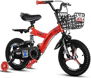 Stroller boy Girl Bike Safety Double Disc Brake Road Bike Child Drift Bike Damping Mountain Bike (Color : Red, Size : 12inches)