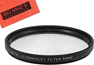 58mm Multi-Coated UV Protective Filter for Fujifilm X-T2, X-T3, X-T10, X-T20 Mirrorless Digital Camera with 18-55mm F2.8-4.0 R LM OIS Lens
