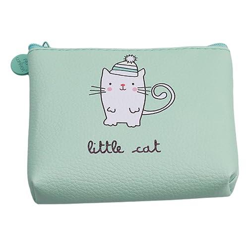 2640a6a94ed7 Lalang Women Kids Girls Purses Cartoon Small Wallet Coin Purse PU Card Bag  (little cat