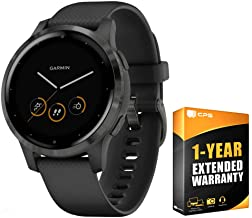 Garmin Vivoactive 4S GPS Smartwatch with Music & Fitness Activity Tracker & Health Monitor Apps (Black/Slate) 010-02172-11 4 S Bundle with Support Extension