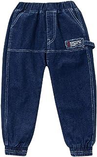 HOSD Pantalones para niños 2019 Primavera y otoño Ropa Nueva para niños Jeans para niños Pantalones Largos para niños Grandes