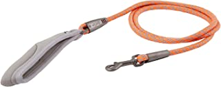 Hurtta Weekend Warrior Rope Dog Leash, Neon Orange, 6 ft Long x 1/2 in
