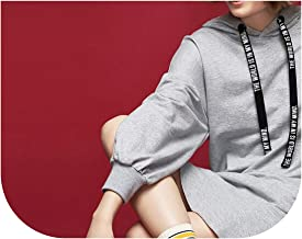Literary Hooded Dress Solid Lantern - Hoodies Black Gray Femininas