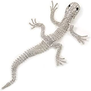 silver gecko brooch
