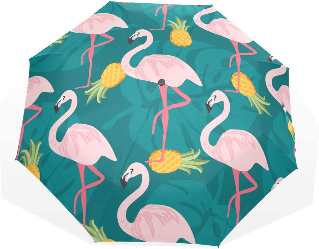 Umbrella Bird Flamingo Fruit Leaves Light Anti-UV San Diego Mall Folds Super-cheap 3 Nature