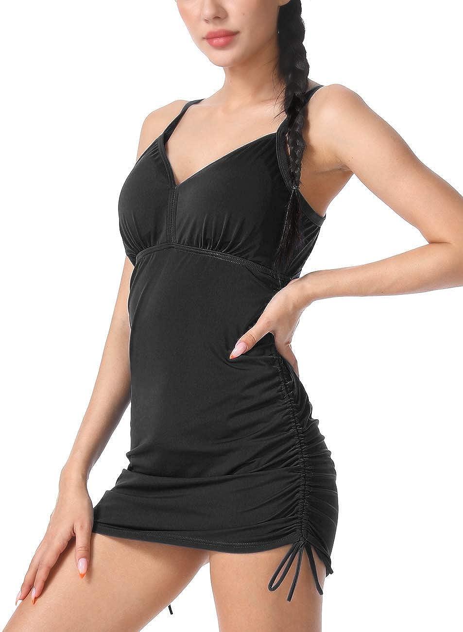 Septangle Women's Limited time cheap sale V Neck Tankini Tummy Tops Ruc Swimwear Control New Free Shipping