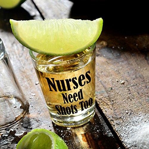 Funny Nurses Shot Glass