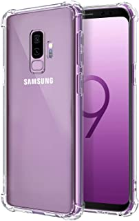 Galaxy S9 Plus Case, Comsoon [Drop Cushion] [Crystal Clear] Soft TPU Bumper Slim Protective Case Cover with Raised Bezels ...