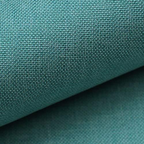 NOVELY® LUSO | 1 lfm | Feiner Stoff Polsterstoff Bezugsstoff Meterware Möbelstoff (30 Petrol)