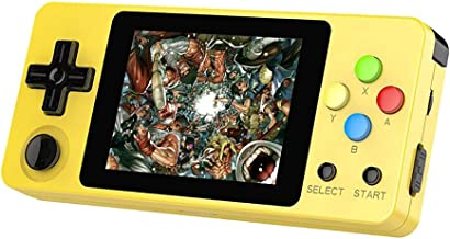 Basde LDK Game Handheld Gaming Console, Retro Portable Gaming System Handheld Game Console Kids Adults Screen by 2.6 Thumbs Mini Palm Nostalgia Console Children of Family TV Video (Yellow)
