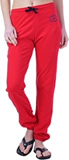 WAKE UP COMPETITION Red Self Design Women Track Pant for Summer Season