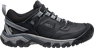KEEN Men's Ridge Flex Low Height Waterproof Hiking Shoe, Black/Magnet, 17