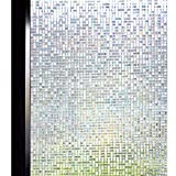 DUOFIRE 3D窓用フィルム 台風対策 飛散防止 目隠しシート ガラスフィルム 断熱 遮光 結露防止 紫外線UVカット 水で貼る 貼り直し可能 装飾フィルム おしゃれ [石道004] (0.9M x 3M)