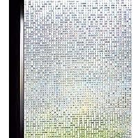 DUOFIRE 3D窓用フィルム台風対策 飛散防止 目隠しシート ガラスフィルム 断熱 遮光 結露防止 紫外線UVカット 水で貼る 貼り直し可能 装飾フィルム おしゃれ [石道004] (0.6M x 3M)