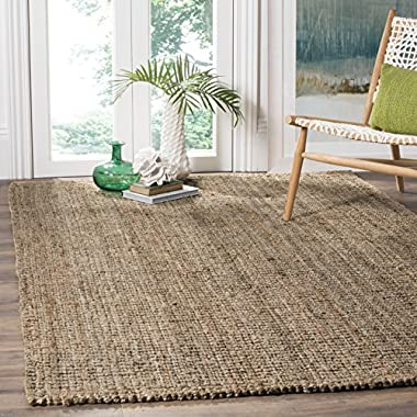 Safavieh Natural Fiber Collection NF447M Hand Woven Natural and Grey Jute Area Rug (2' x 3')