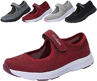 レディース安全靴 ナースシューズ 通気性 柔軟性 メッシュ エアクッション付き お母さん 婦人靴 軽量 スボーツスニーカー