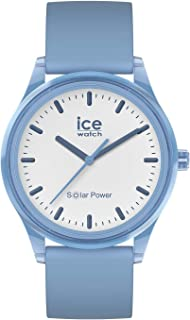 Ice-Watch - Ice Solar Power Rain - Montre Bleue Mixte avec Bracelet en Silicone - 017768 (Medium)