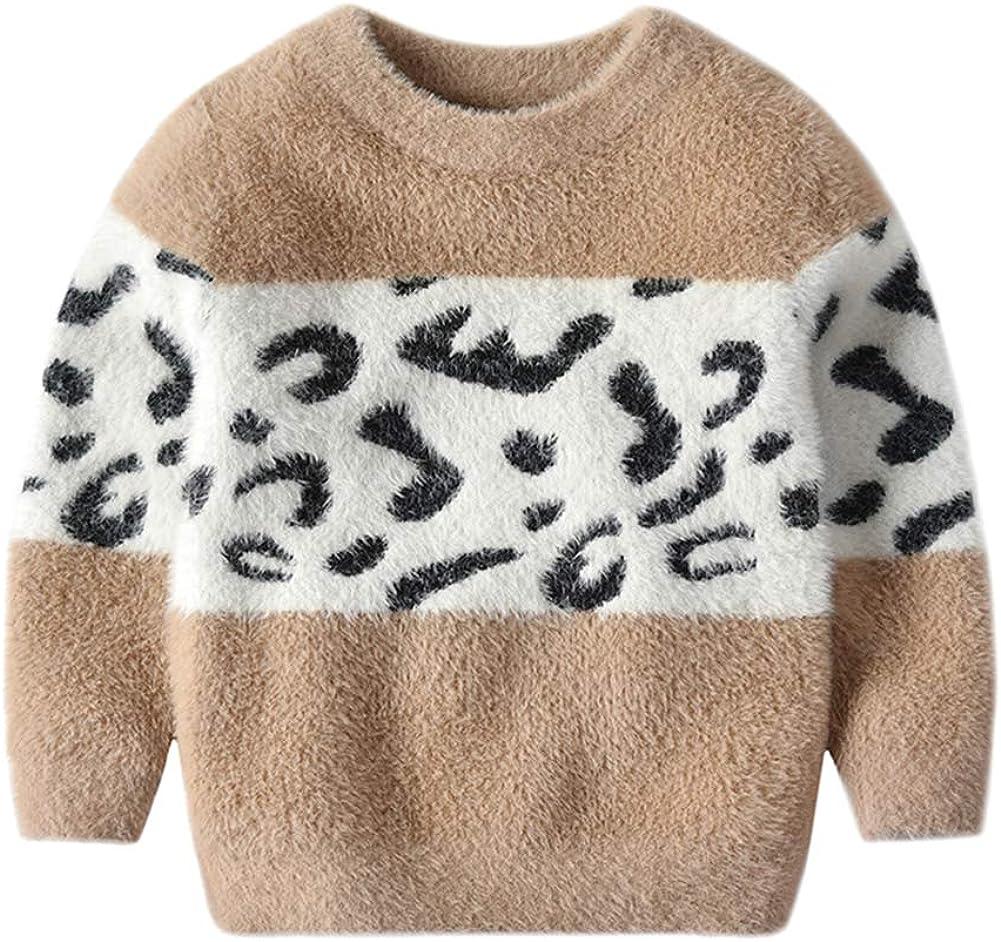 Toddler Baby Girls Clothes Long Sleeve Sweater Autumn Winter Top Khaki