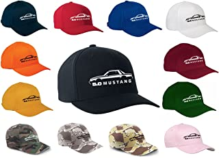 1987-93 Ford Mustang 5.0 Coupe Classic Outline Design Flexfit hat cap