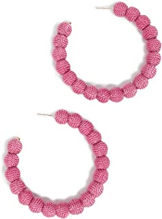 Kenneth Jay Lane Women's Threaded Ball Hoop Earrings